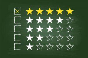 Stars on a chalk board